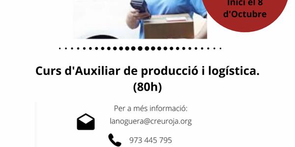 Creu Roja - Curs d'Auxiliar de producció i logística - Formació online Gratuïta
