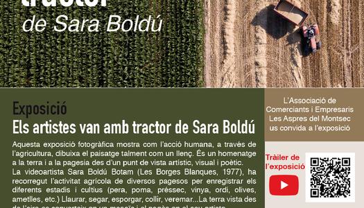 Exposició Sala Sant Antoni: Els artistes van amb tractor de Sara Boldú