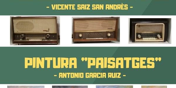 """Exposicions Sala Sant Antoni: Radios Vintage Anys 50 i Pintura """"Paisatges"""""""