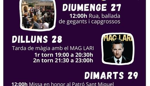 Festa Major Os de Balaguer - Setembre 2020