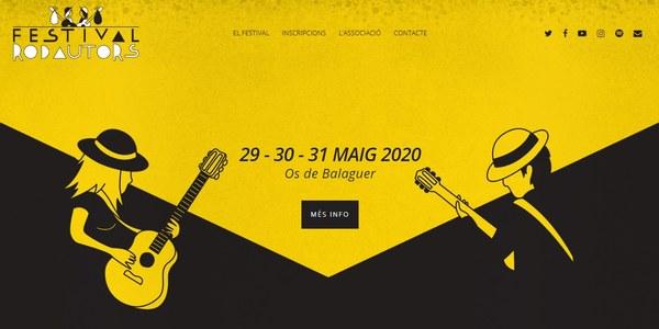 Festival Rodautors - 29, 30 i 31 de maig a Os de Balaguer