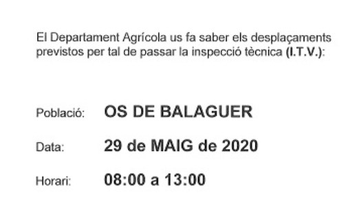 ITV Agrícola - 29 de maig de 2020