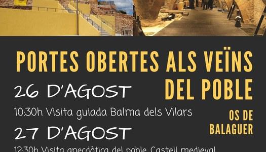 Portes obertes als veïns del poble - 26 i 27 d'agost - Os de Balaguer