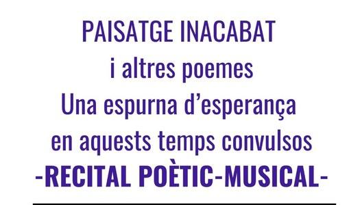 Recital poètic-musical 24 d'abril - 18h  Sala Ball - Os de Balaguer