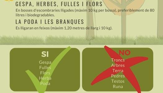 Servei de recollida: restes vegetals i poda