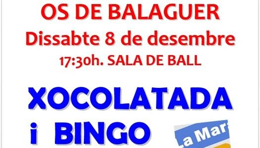 Xocolatada i Bingo - 8 desembre 17:30h Sala Ball - La Marató