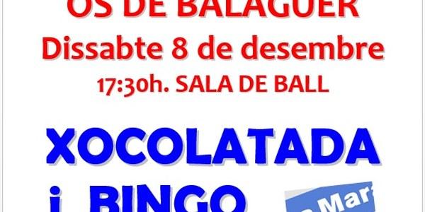 Xocolatada i Bingo - 8 desembre - 17:30h Sala de Ball - LA MARATÓ