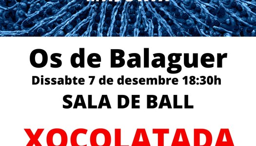 Xocolatada i Bingo - Marató - 7 de desembre 18.30h Sala de Ball